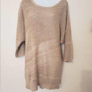 Beige/Blush Shimmer Sweater